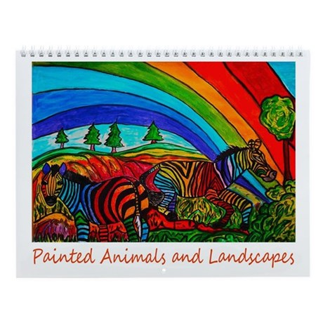 Painted Animals and Landscapes Wall Calendar