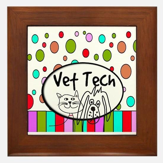 Vet Tech Tote 2.PNG Framed Tile