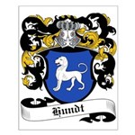Hundt Coat of Arms Small Poster