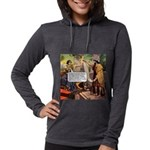 dodgy_tile.png Womens Hooded Shirt