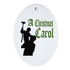A Christmas Carol Ornament (Oval)