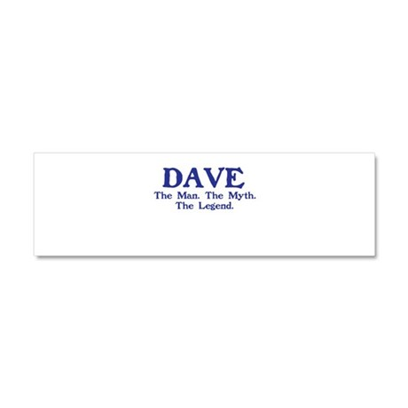 dave.png Car Magnet 10 x 3