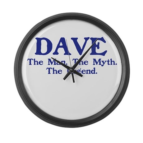 dave.png Large Wall Clock