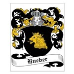 Hueber Coat of Arms Small Poster