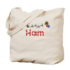 Ham, Christmas Tote Bag