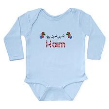 Ham, Christmas Long Sleeve Infant Bodysuit