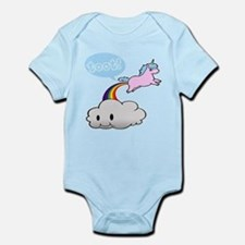 Cute Unicorn Fart! ... TOOT! Infant Bodysuit
