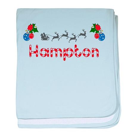 Hampton, Christmas baby blanket