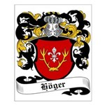 Höger Coat of Arms Small Poster