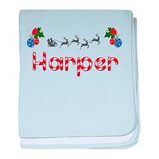 Harper, Christmas baby blanket