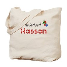 Hassan, Christmas Tote Bag