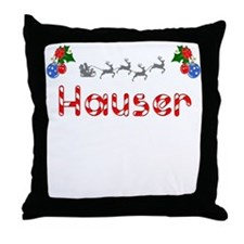 Hauser, Christmas Throw Pillow