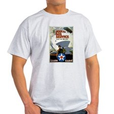 """Give'er The Gun"" WWI Poster Ash Grey T-Shirt"
