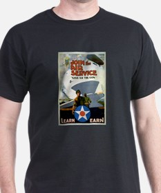"""Give'er The Gun"" WWI Poster T-Shirt"