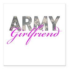 "ACU Army Girlfriend Square Car Magnet 3"" x 3"""