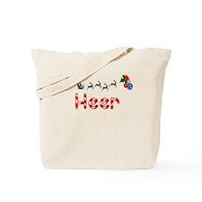 Heer, Christmas Tote Bag