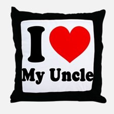 I Love My Uncle: Throw Pillow