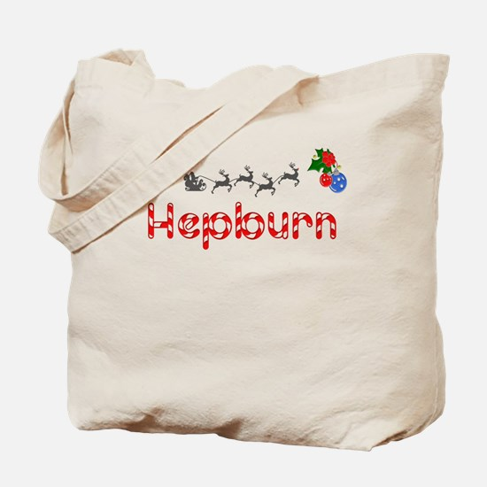 Hepburn, Christmas Tote Bag