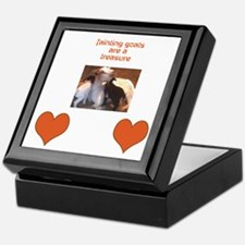 Cute Fainting goats Keepsake Box