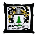 Grunewaldt Coat of Arms Throw Pillow