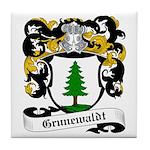 Grunewaldt Coat of Arms Tile Coaster