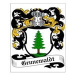 Grunewaldt Coat of Arms Small Poster