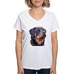 bitchhead2glow.png Women's V-Neck T-Shirt