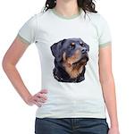bitchhead2glow.png Jr. Ringer T-Shirt