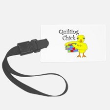 Quilting Chick Text Luggage Tag