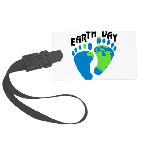 Earth Day Footprints Large Luggage Tag