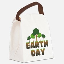Earth Day Trees Canvas Lunch Bag