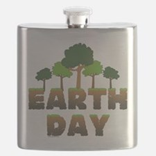 Earth Day Trees Flask