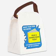 GrayFxBanBooksBL2.png Canvas Lunch Bag