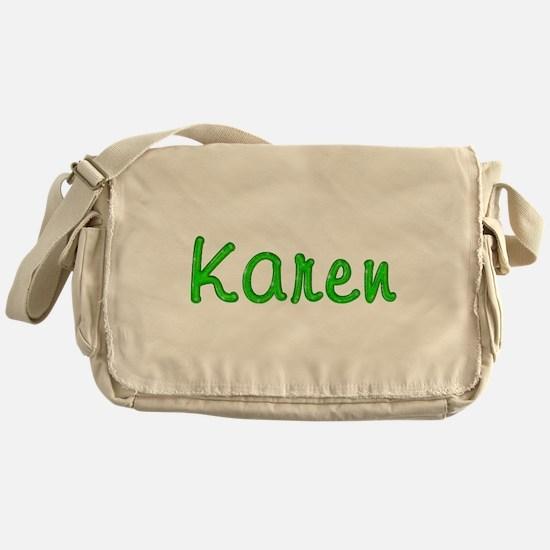 Karen Glitter Gel Messenger Bag