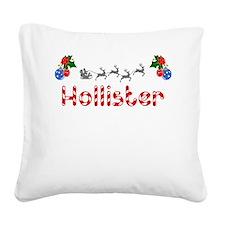 Hollister, Christmas Square Canvas Pillow