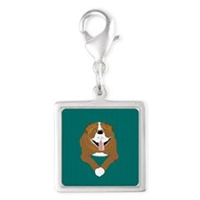 Bully For You Silver Square Charm Charms
