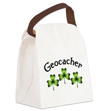 Geocacher 3 Shamrocks Canvas Lunch Bag