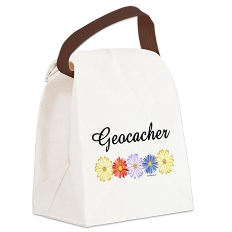 Geocacher Asters Canvas Lunch Bag