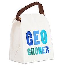 Geocacher Arrows Blue Canvas Lunch Bag