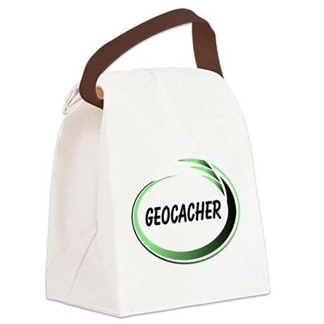 Green Geocacher Pizzaz Canvas Lunch Bag