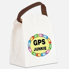GPS Junkie Canvas Lunch Bag