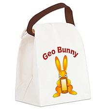 Geo Bunny Canvas Lunch Bag