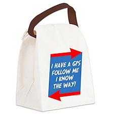 Follow Me Canvas Lunch Bag
