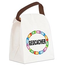 GPS Oval Canvas Lunch Bag