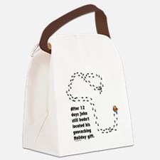 Holiday Geocacher Canvas Lunch Bag
