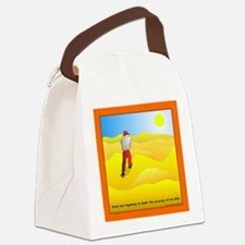 GPS Uncertainty Canvas Lunch Bag