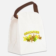 PlusNotGeoLeavesBL.png Canvas Lunch Bag