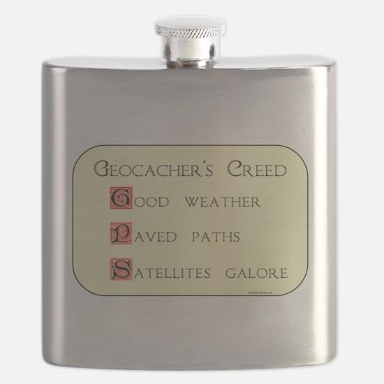 Geocacher's Creed Flask