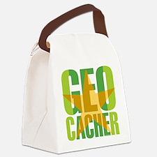 Star Geocacher Green Canvas Lunch Bag