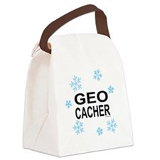 GeoFlakeBUMP.png Canvas Lunch Bag
